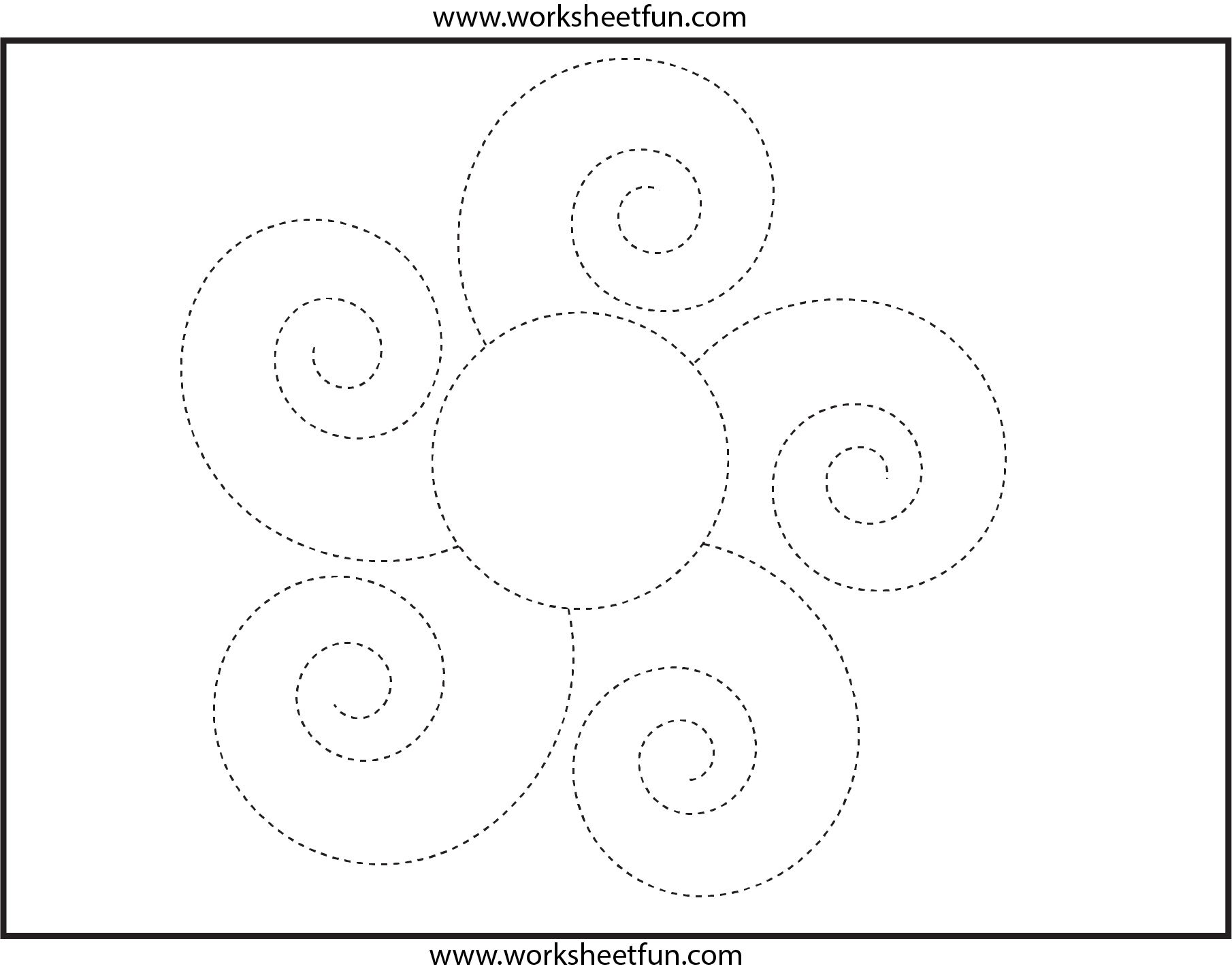 Picture Tracing Flower Spiral Tracing 1 Worksheet