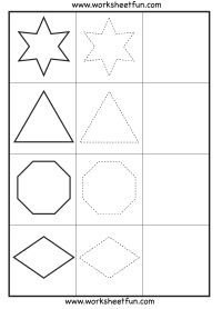 Shape Tracing  3 Worksheets / FREE Printable Worksheets ...