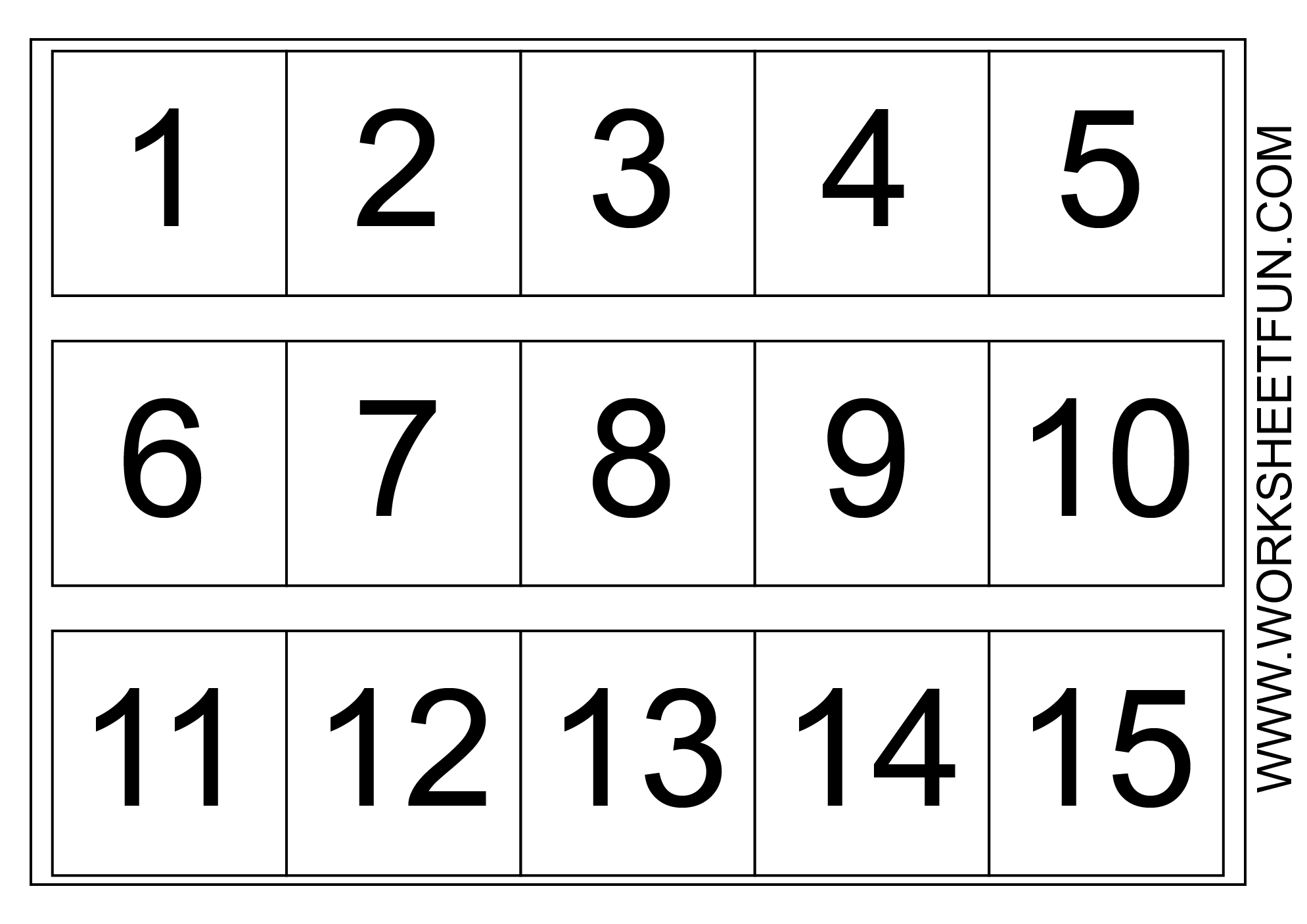 Number Chart 1 15 Free Printable Worksheets Worksheetfun