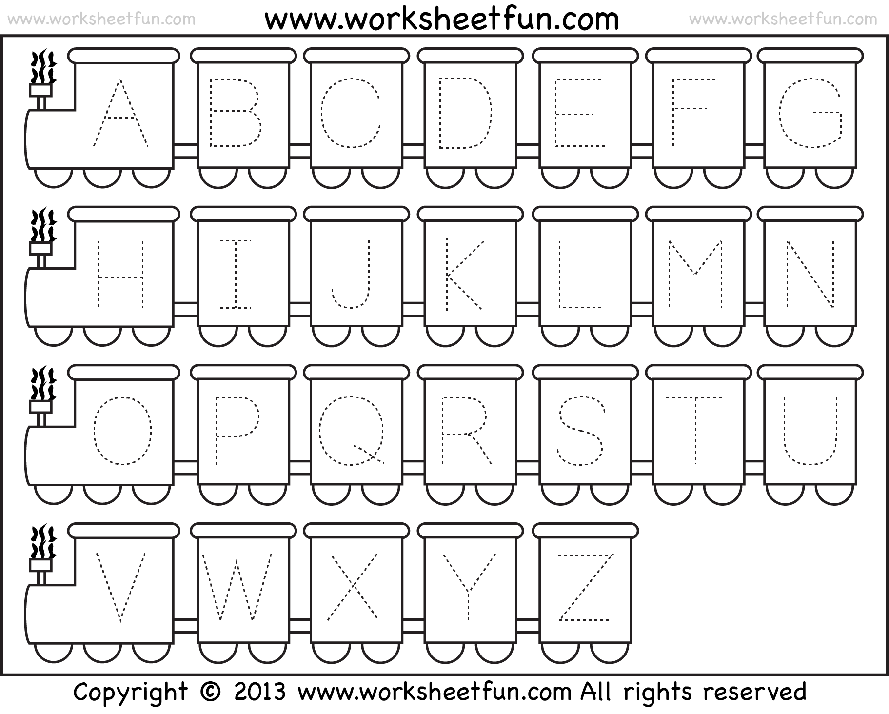 hight resolution of Letter Tracing Worksheet – Train Theme / FREE Printable Worksheets –  Worksheetfun