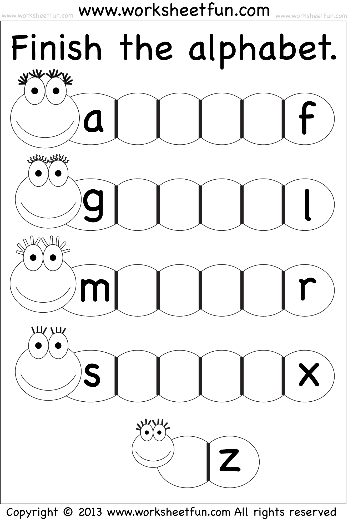 hight resolution of Missing Lowercase Letters – Missing Small Letters – Worksheet / FREE  Printable Worksheets – Worksheetfun