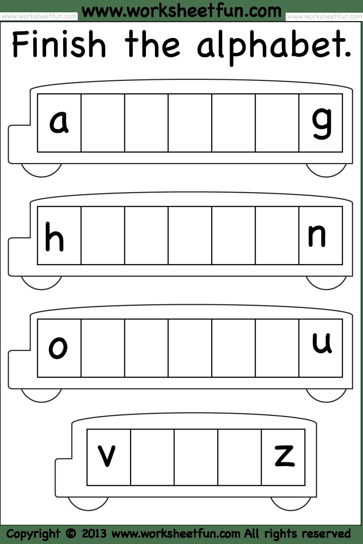 medium resolution of Missing Lowercase Letters – Missing Small Letters – Worksheet / FREE Printable  Worksheets – Worksheetfun
