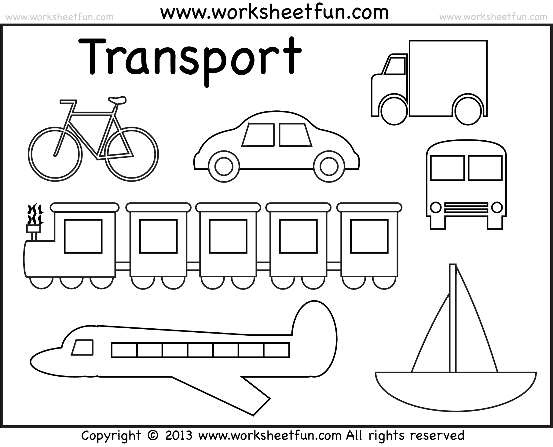 Transportation By Land Worksheet