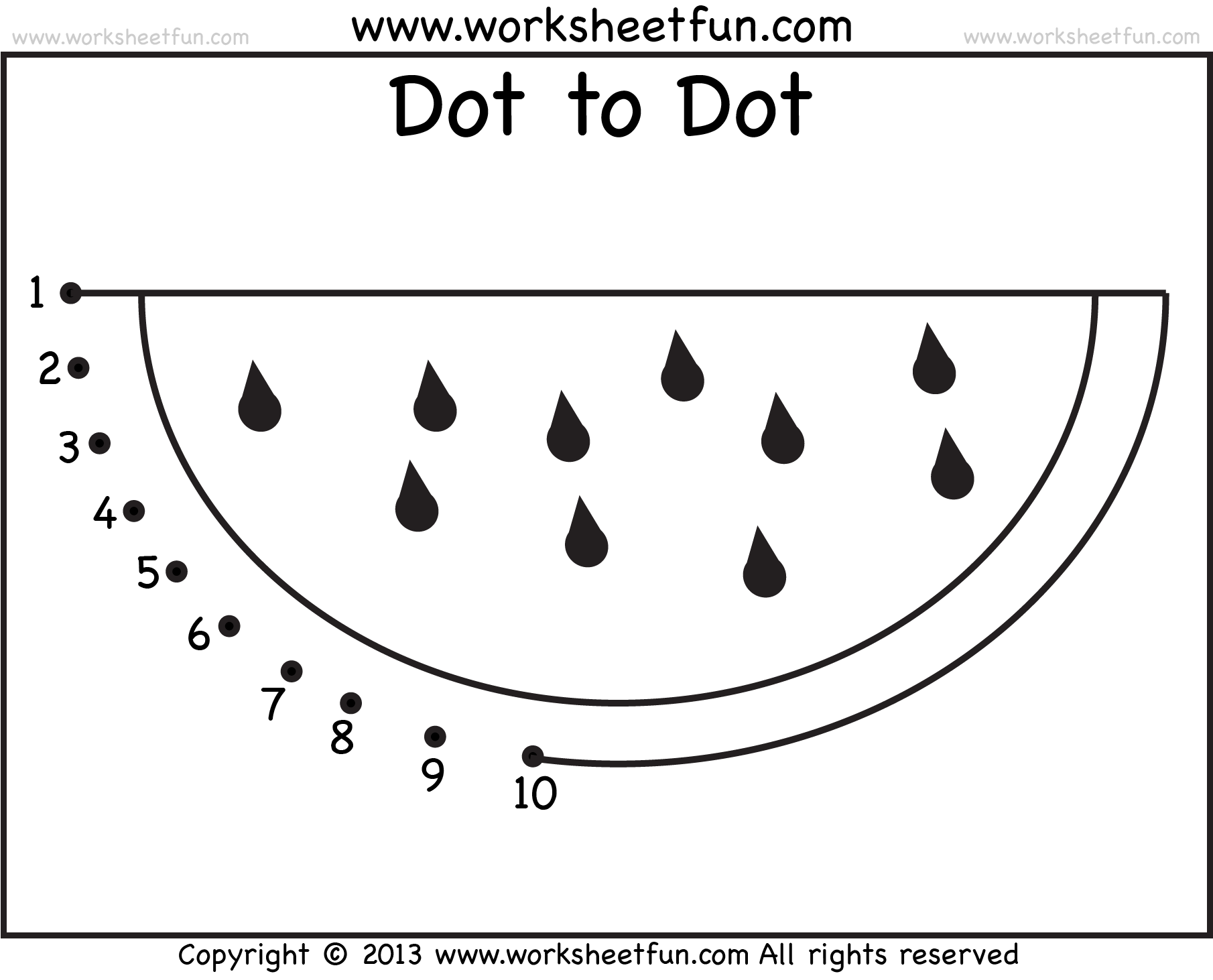 Worksheet Dot To Dot Shapes Kindergarten