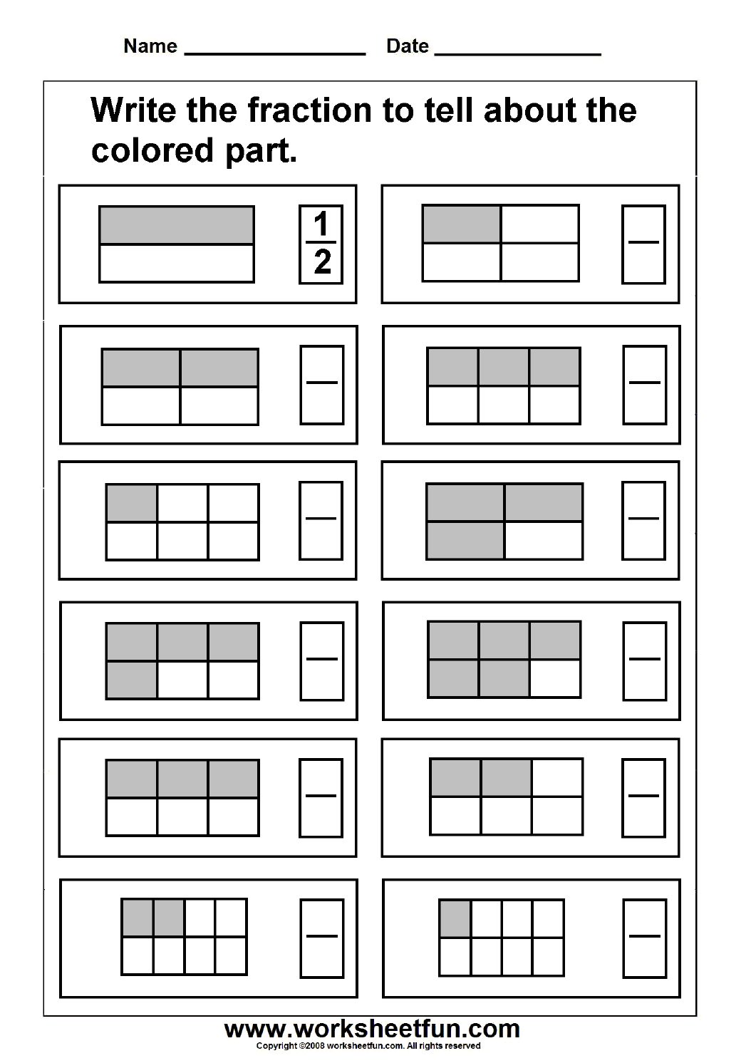 Printable Fraction Activities That Are Gratifying
