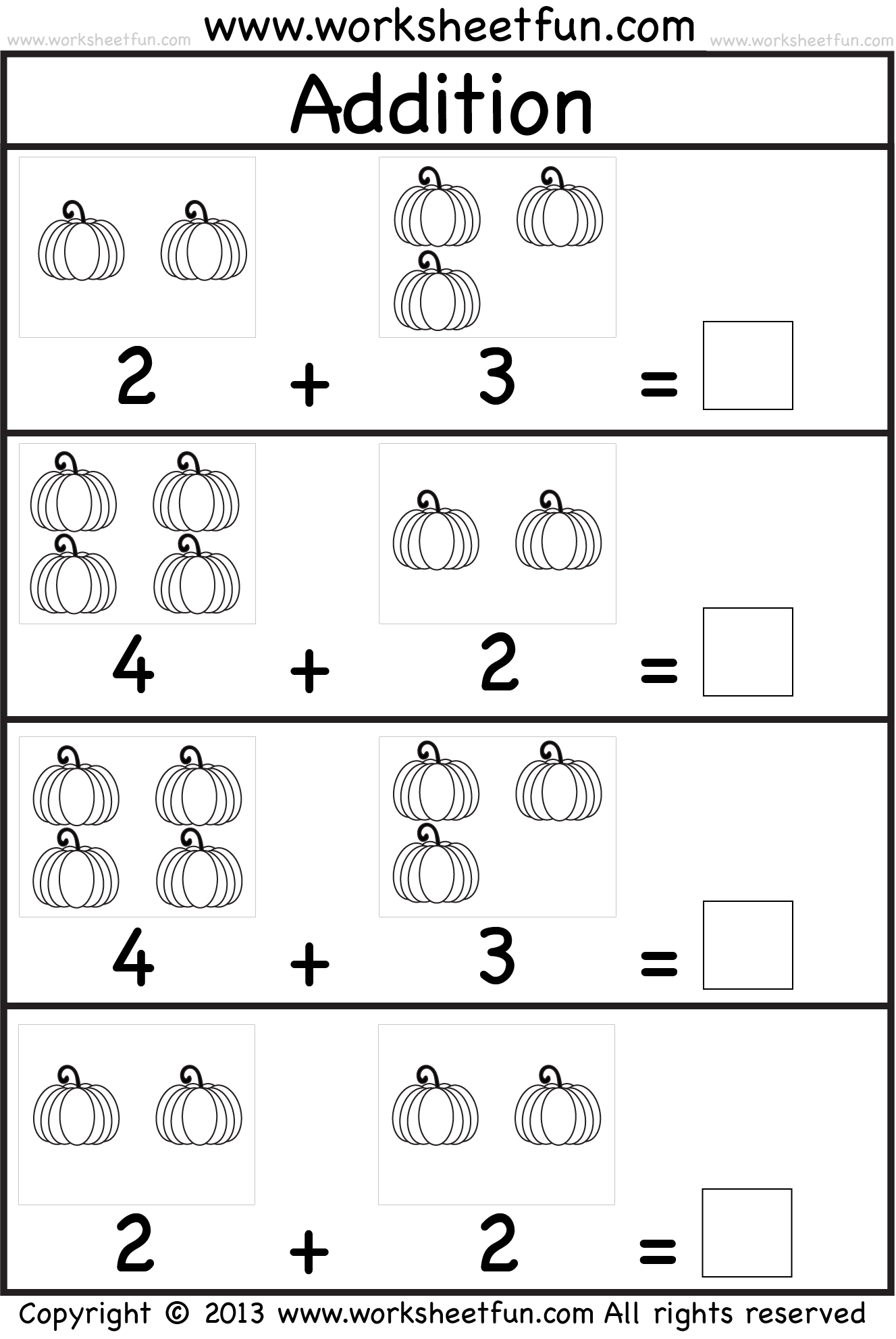 Pumpkin Picture Addition Kindergarten Addition Worksheet Free Printable Worksheets