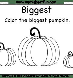 Biggest and Smallest Pumpkin – 2 Worksheets / FREE Printable Worksheets –  Worksheetfun [ 1462 x 1810 Pixel ]