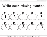 Missing Numbers – 1-10