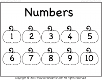 Number Chart – 1-10