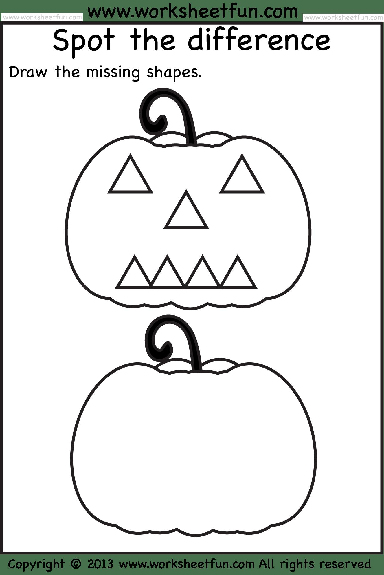 Pumpkin Pattern Worksheet Preschool