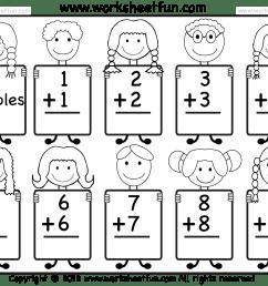 Addition Doubles Facts – Beginner Addition worksheet / FREE Printable  Worksheets – Worksheetfun [ 1462 x 1810 Pixel ]