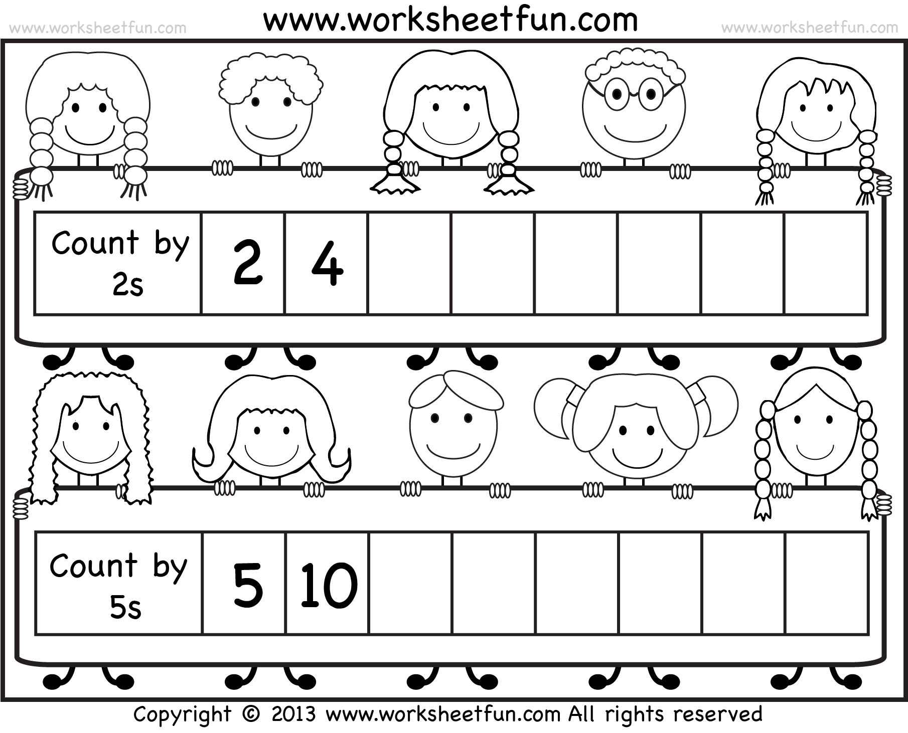 hight resolution of Skip Counting by 2 and 5 – Worksheet / FREE Printable Worksheets –  Worksheetfun
