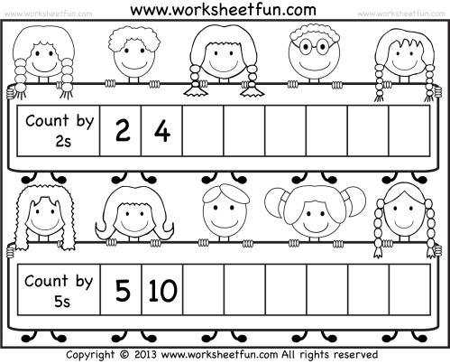 small resolution of Skip Counting by 2 and 5 – Worksheet / FREE Printable Worksheets –  Worksheetfun