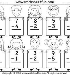 Beginner Subtraction – 10 Kindergarten Subtraction Worksheets / FREE  Printable Worksheets – Worksheetfun [ 1462 x 1810 Pixel ]