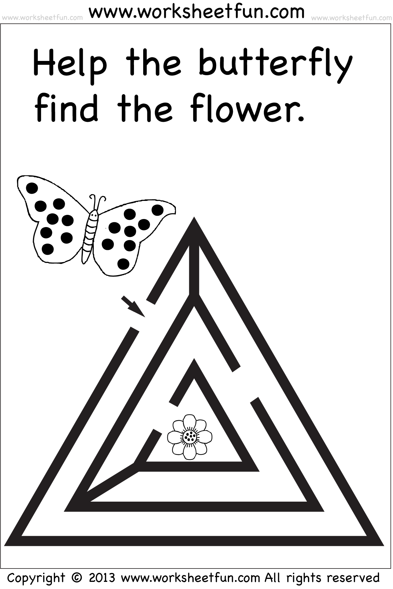 Free Printable Mazes For Preschoolers Worksheets