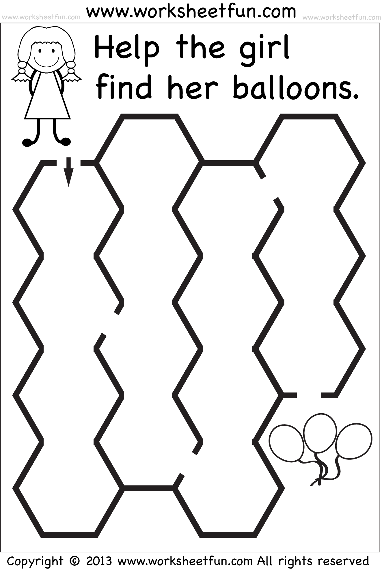 Shape Maze Worksheet Preschool