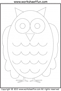 Owl Tracing and Coloring