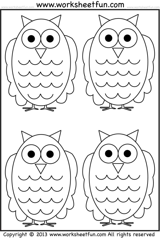 medium resolution of Owl Tracing and Coloring – 4 Halloween Worksheets / FREE Printable  Worksheets – Worksheetfun