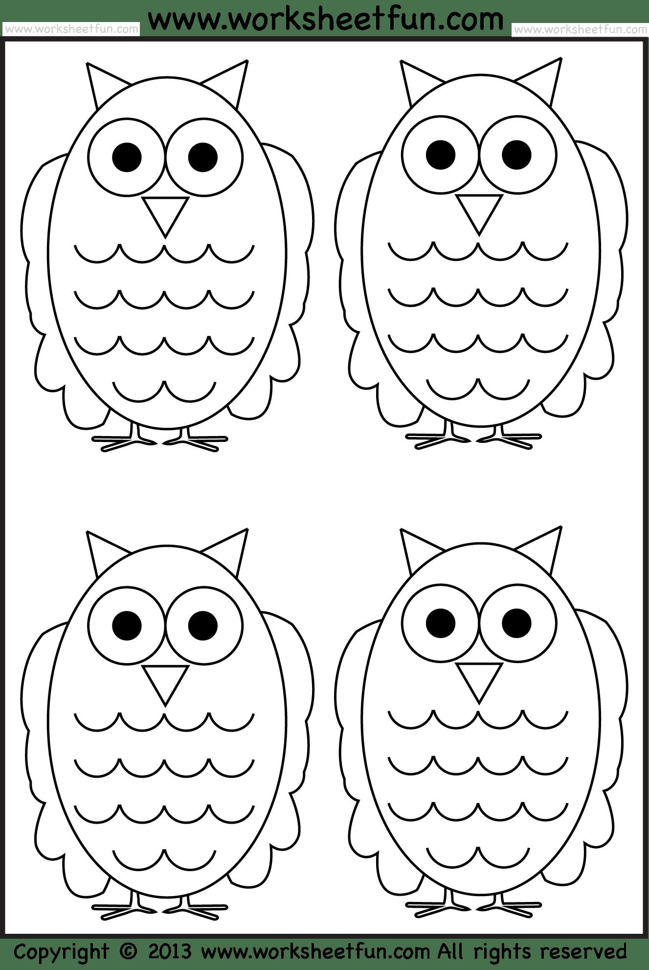 hight resolution of Owl Tracing and Coloring – 4 Halloween Worksheets / FREE Printable  Worksheets – Worksheetfun