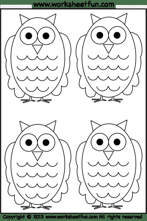 small resolution of Owl Tracing and Coloring – 4 Halloween Worksheets / FREE Printable  Worksheets – Worksheetfun