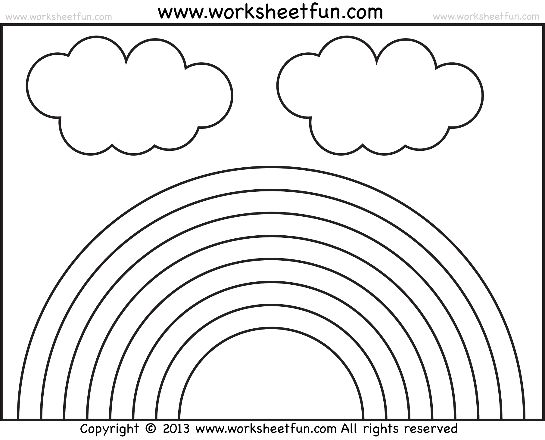Rainbow Worksheet For Grade 2
