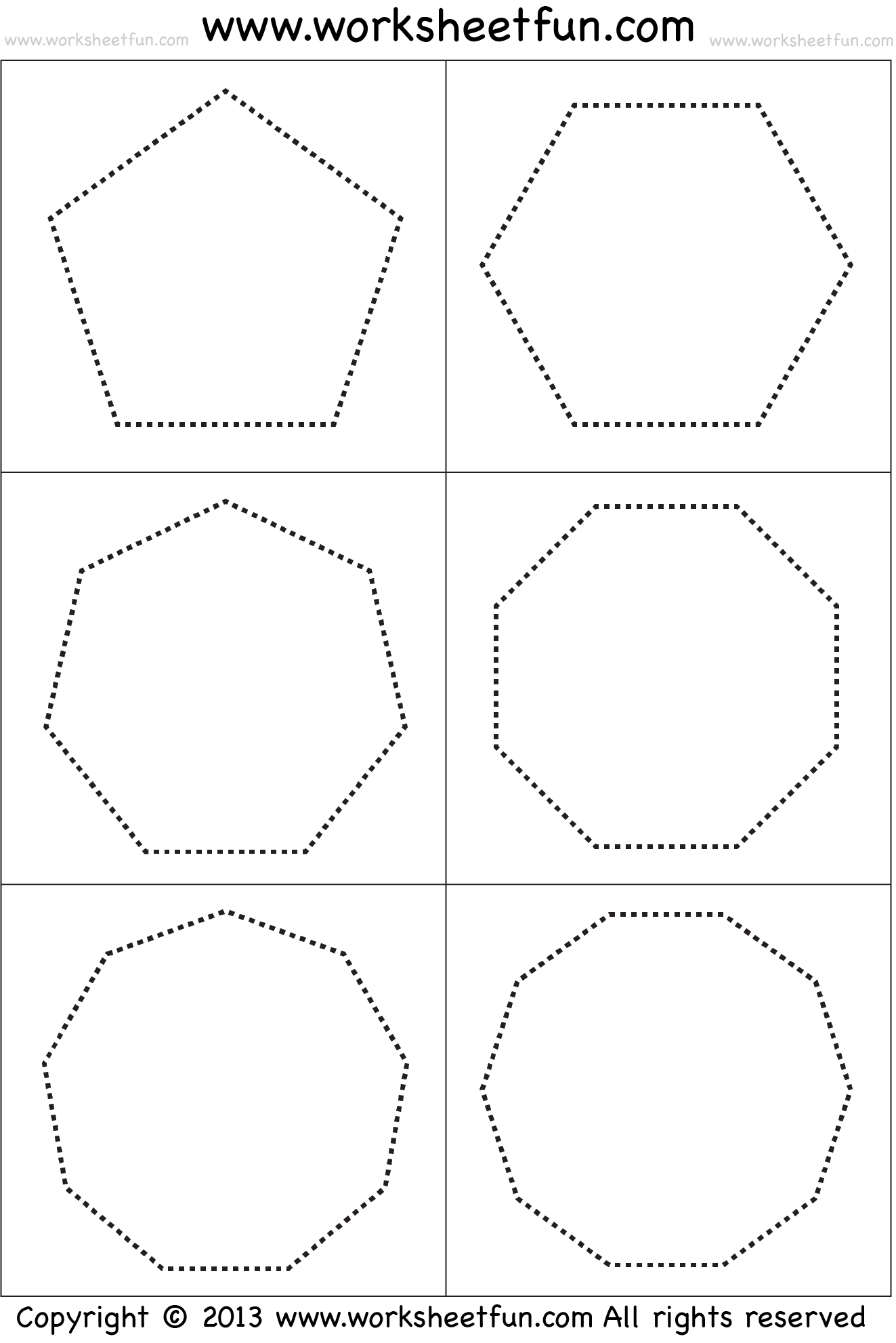 hight resolution of Shapes – Polygons – Pentagon