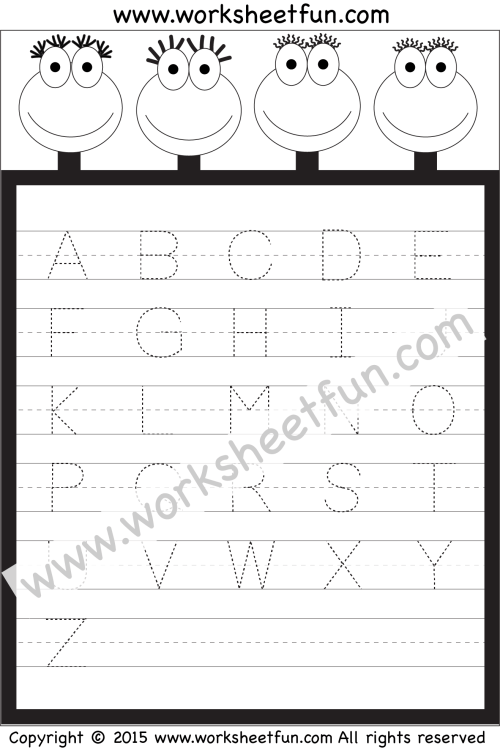 small resolution of Letter Tracing Worksheet – Capital Letters / FREE Printable Worksheets –  Worksheetfun