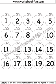 Number Chart 1-20 / FREE Printable Worksheets