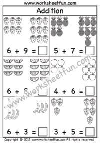 Addition – Picture / FREE Printable Worksheets