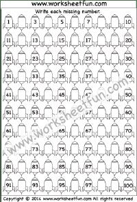 Numbers – Missing / FREE Printable Worksheets