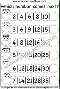 Skip Counting / FREE Printable Worksheets