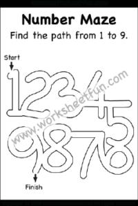 number maze / FREE Printable Worksheets