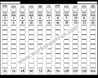 Skip Counting Worksheets / FREE Printable Worksheets