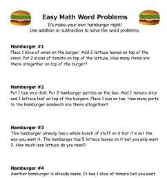 10 Amazing 1st Grade Math Word Problems Worksheets Samples   Worksheet Hero [ 1881 x 1493 Pixel ]