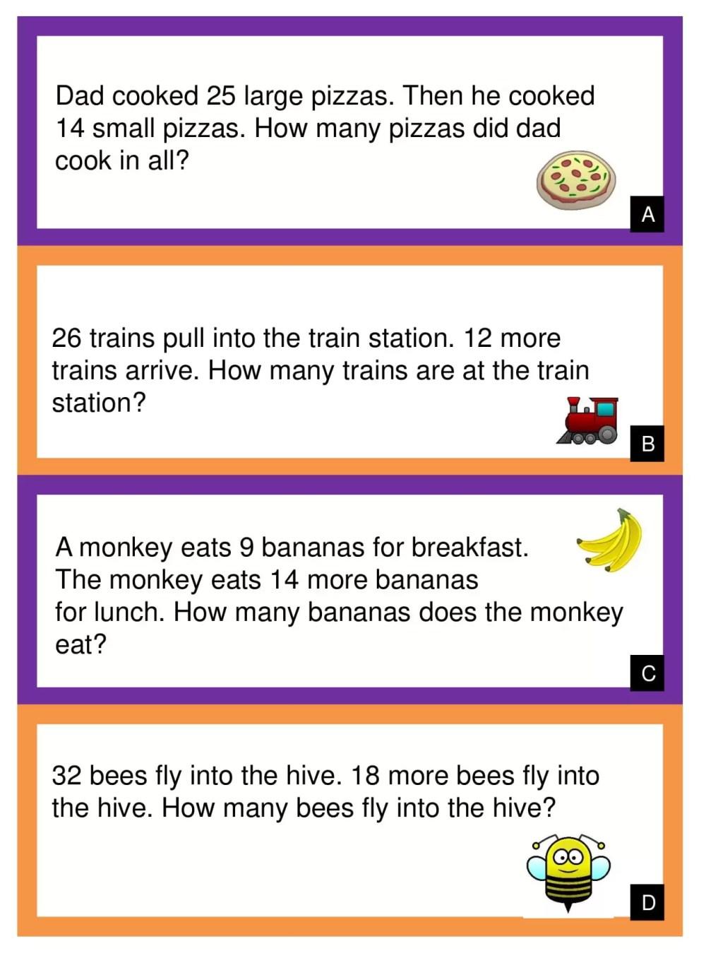 medium resolution of 10 Amazing 1st Grade Math Word Problems Worksheets Samples   Worksheet Hero