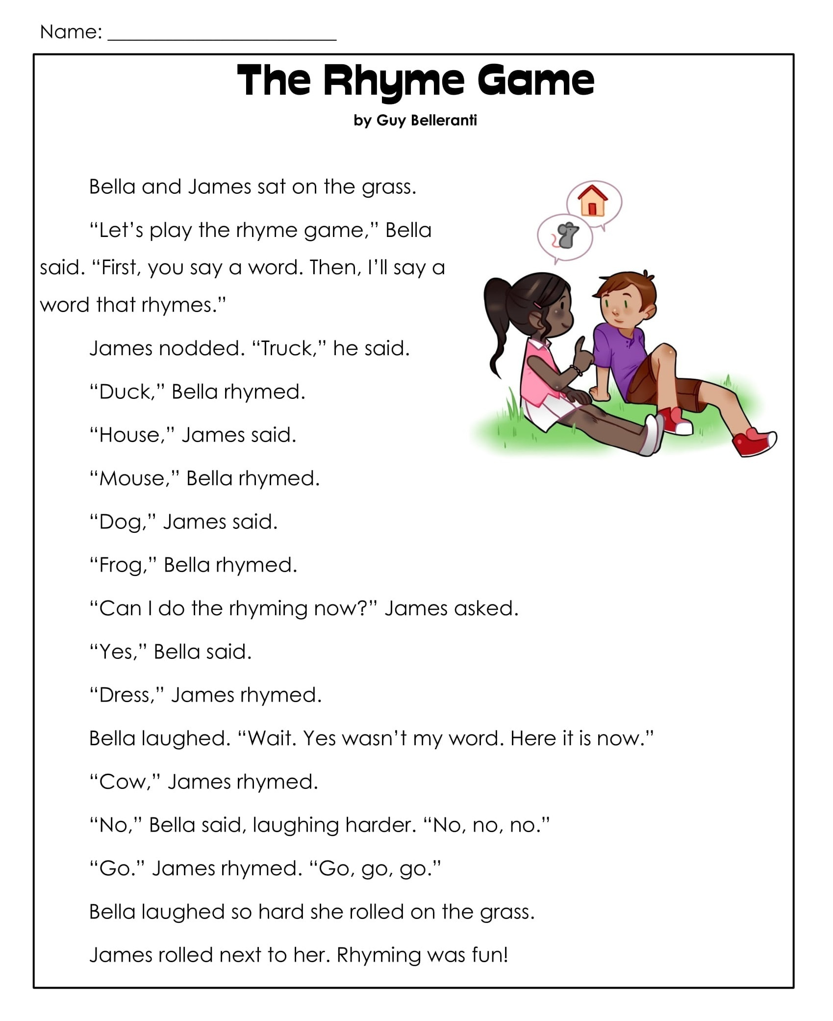 hight resolution of 1st Grade Reading Comprehension Worksheets Printable PDF   Worksheet Hero