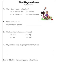 1st Grade Reading Comprehension Worksheets Printable PDF   Worksheet Hero [ 2033 x 1691 Pixel ]