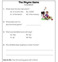 1st Grade Reading Comprehension Worksheets Printable PDF   Worksheet Hero [ 2033 x 1691 Pixel ]
