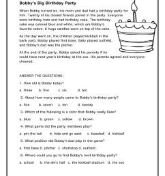 1st Grade Reading Comprehension Worksheets Printable PDF   Worksheet Hero [ 2200 x 1700 Pixel ]