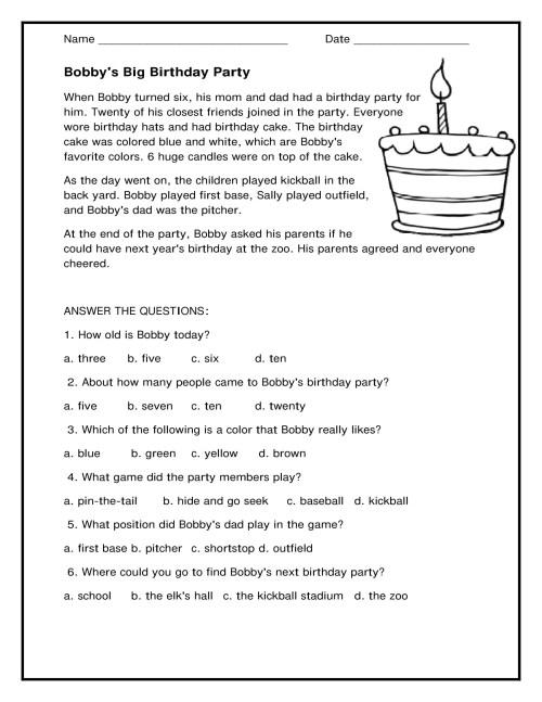small resolution of 1st Grade Reading Comprehension Worksheets Printable PDF   Worksheet Hero