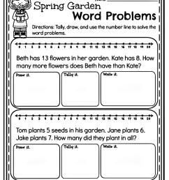 10 Amazing 1st Grade Math Word Problems Worksheets Samples   Worksheet Hero [ 1869 x 1493 Pixel ]