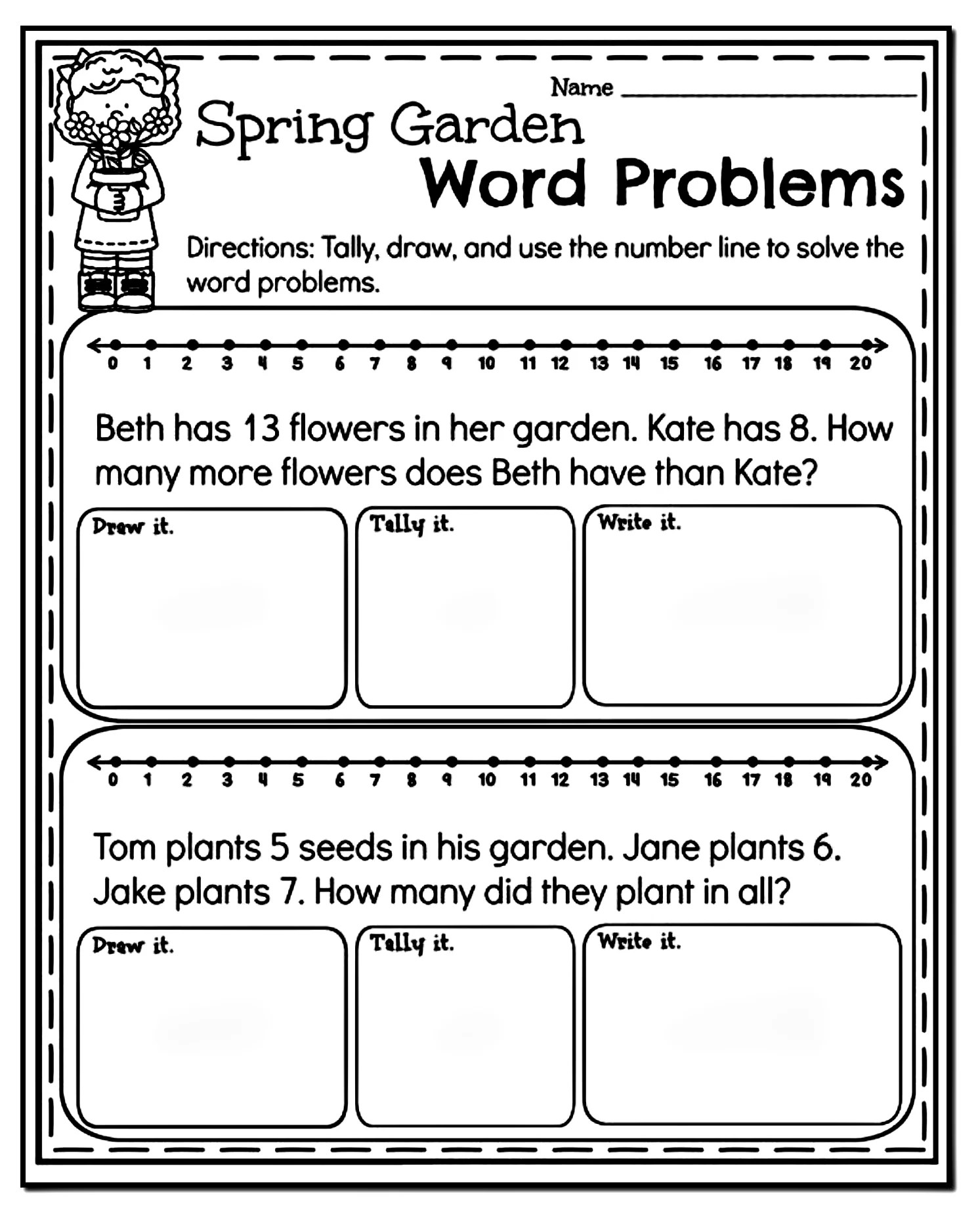 hight resolution of 10 Amazing 1st Grade Math Word Problems Worksheets Samples   Worksheet Hero