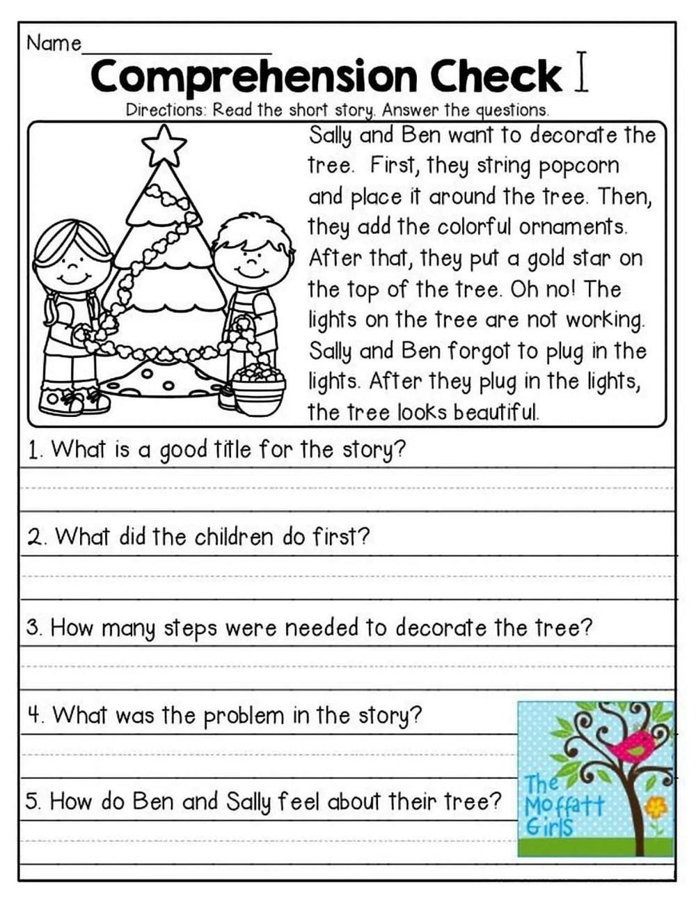 medium resolution of 1st Grade Reading Comprehension Worksheets Printable PDF   Worksheet Hero
