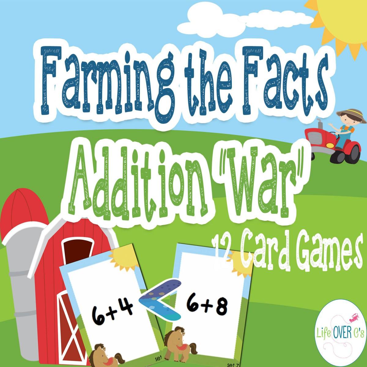 Addition Card Games Worksheets