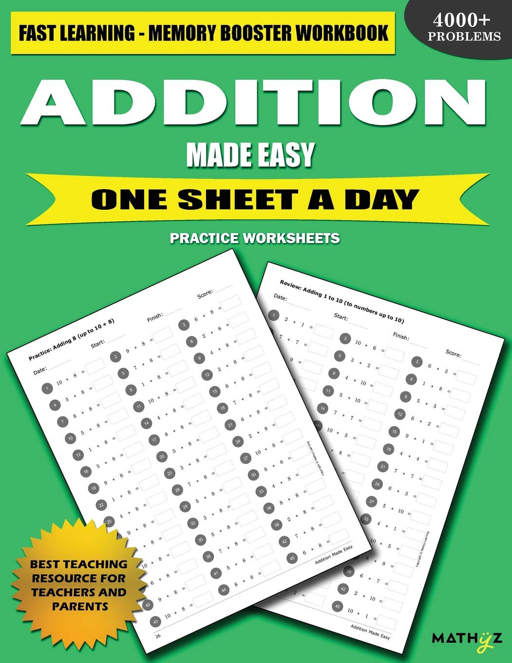 How To Learn Addition Fast Worksheets
