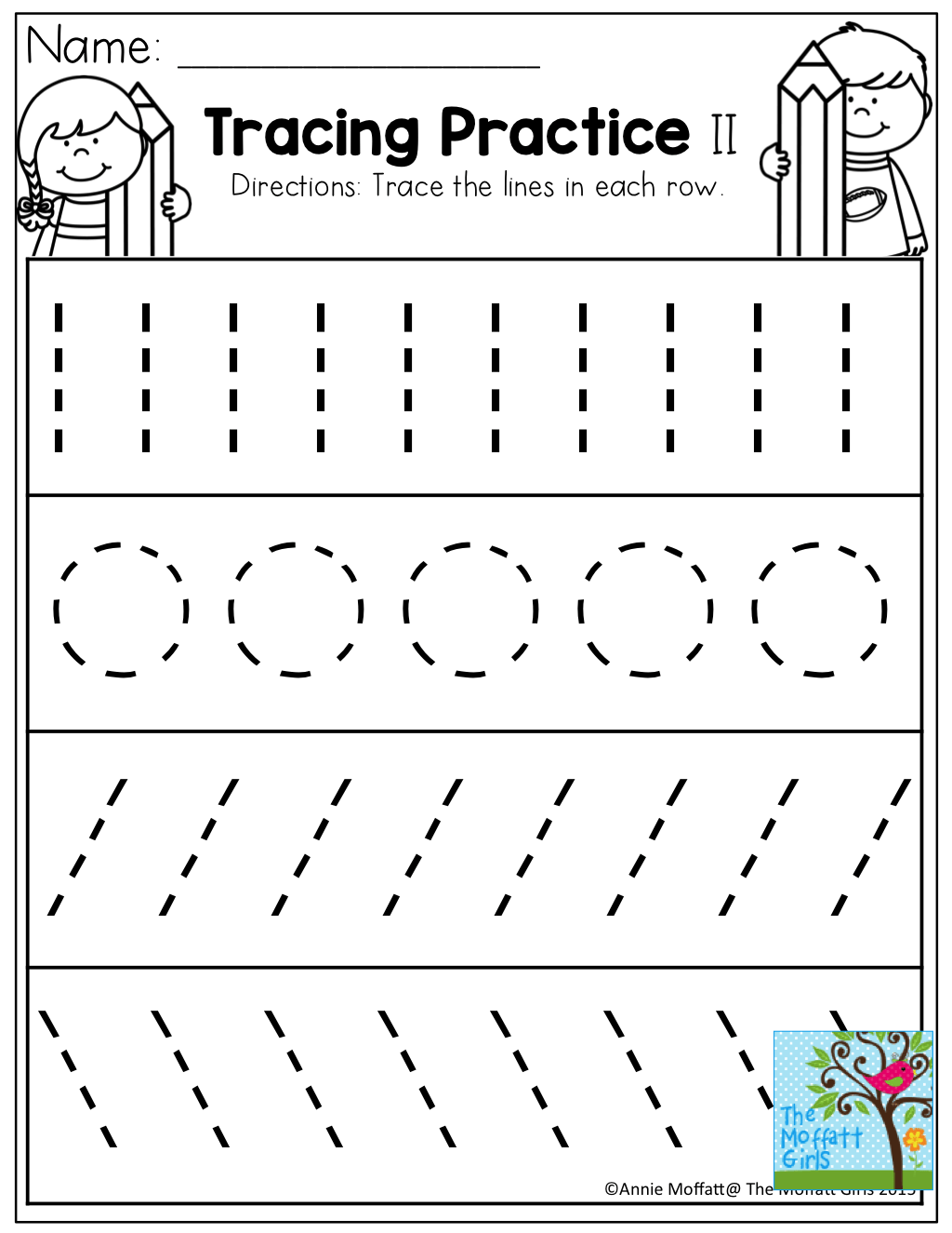 Tracing For Preschool Worksheets