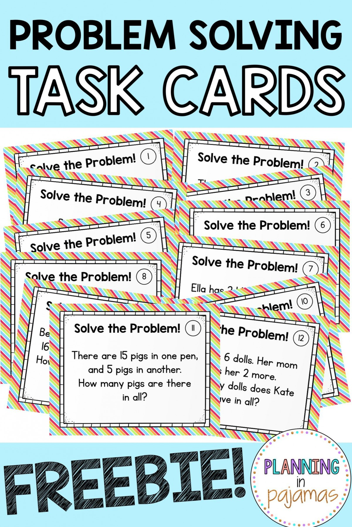 Addition And Subtraction Task Cards Worksheets