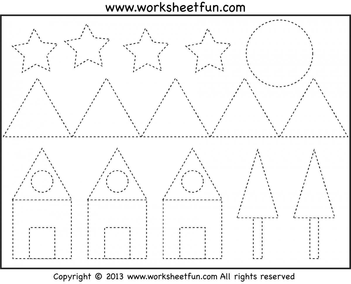 Star Pattern To Trace Worksheets
