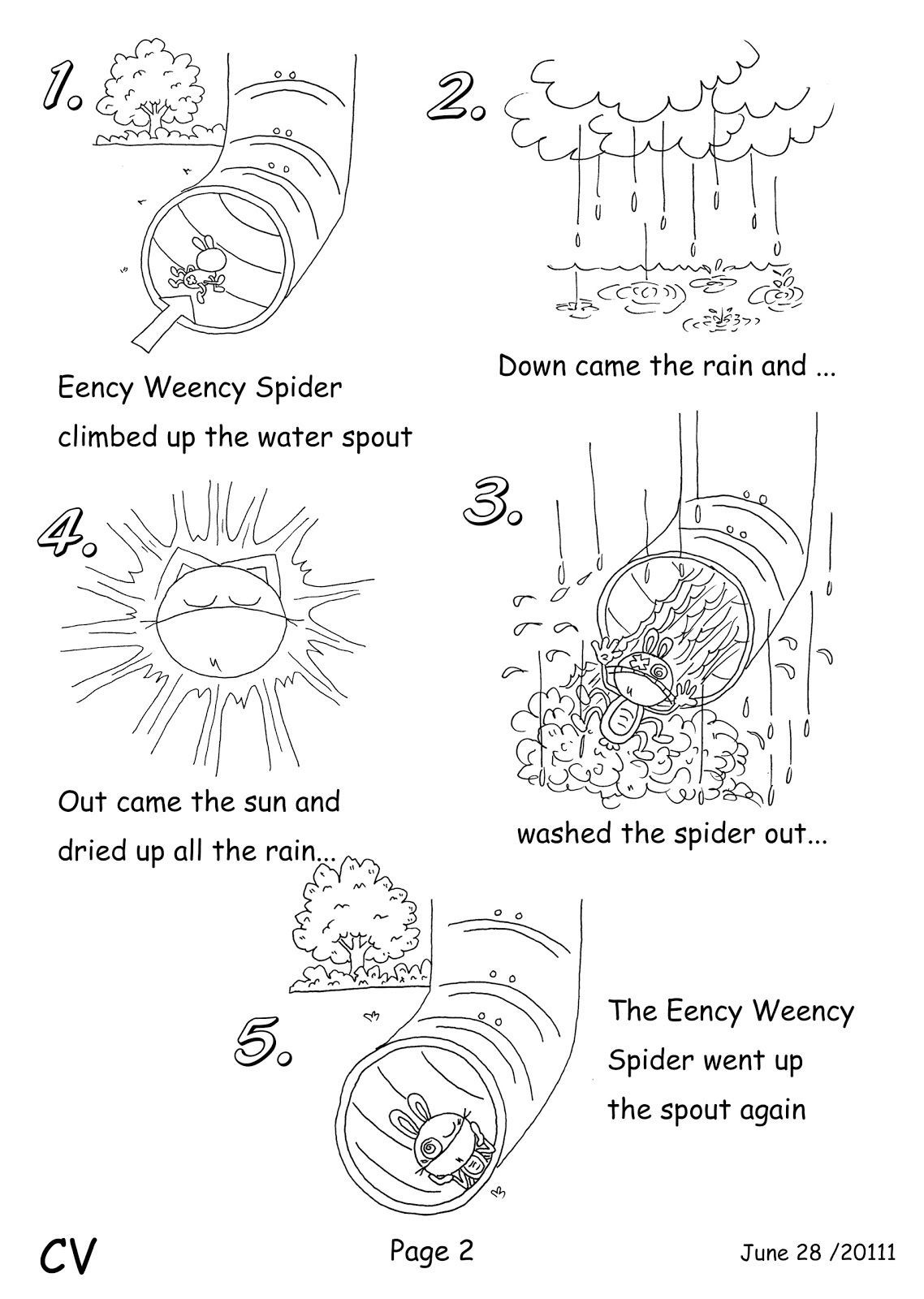Spider Cut Out Pattern Worksheets