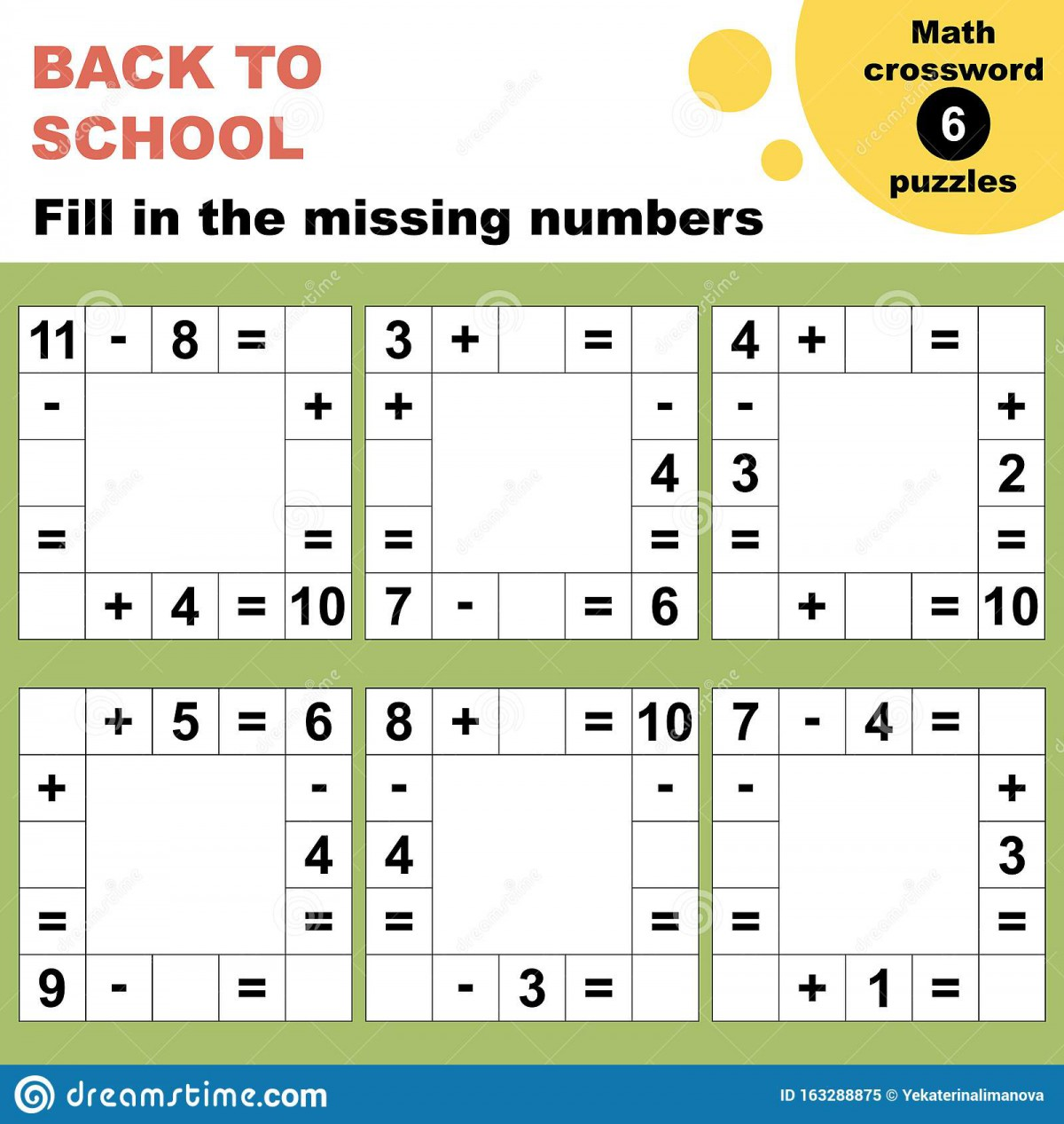 Crossword Puzzle Addition Worksheets